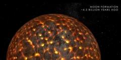 La storia della Luna: 4 miliardi di anni in soli 3 minuti