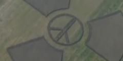Cerchio nel grano contro il nucleare